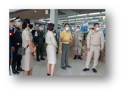 ติดตามสถานการณ์การแพร่ระบาดของโรคติดเชื้อไวรัสโคโรนา 2019 (โควิด 19) ภายในตลาดเขตเทศบาลเมืองอ่างทอง