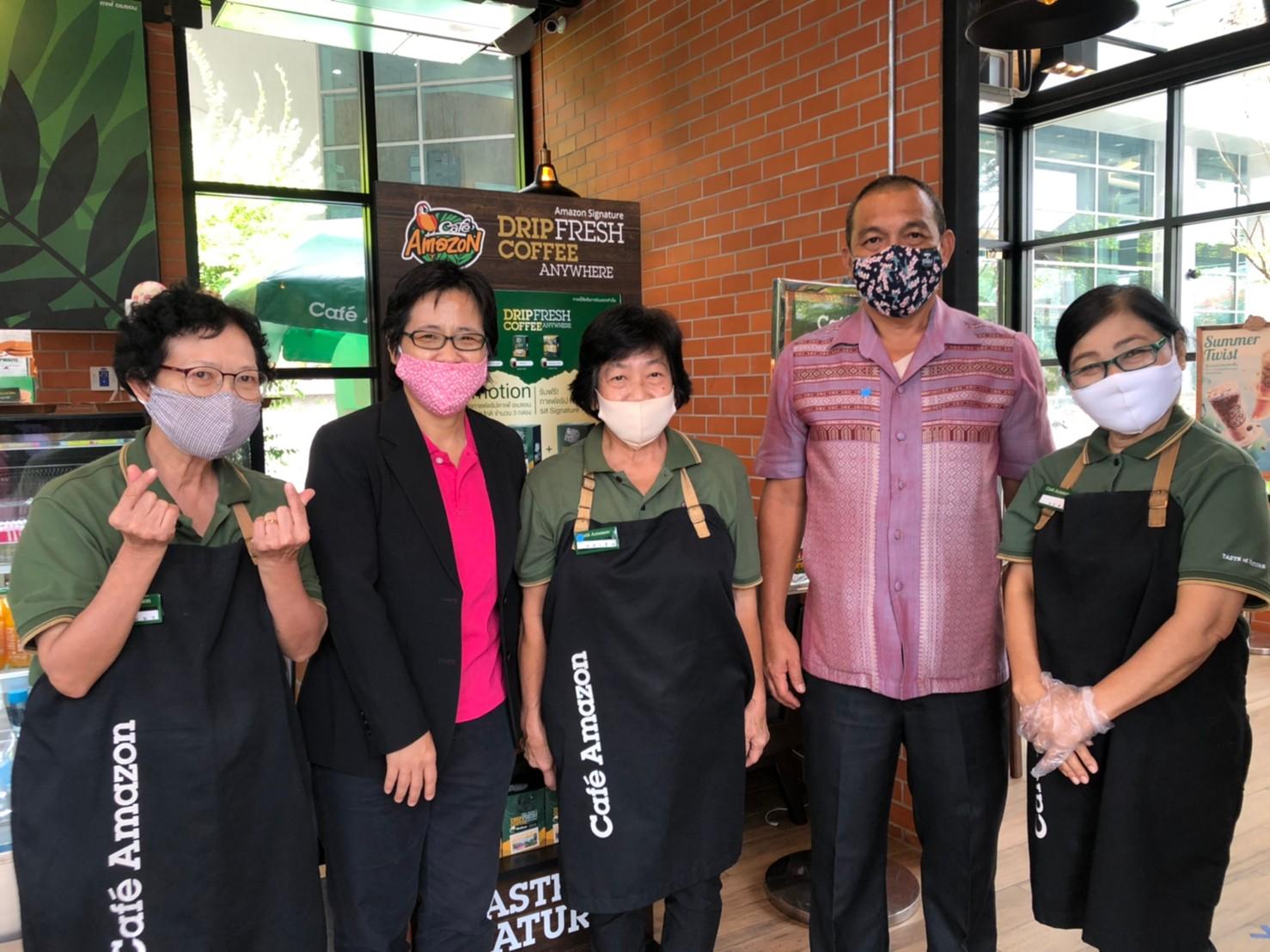 ผู้อำนวยการ สจก.8 ติดตามการทำงานโครงการจ้างงานผู้สูงอายุ Café Amazon for Chance