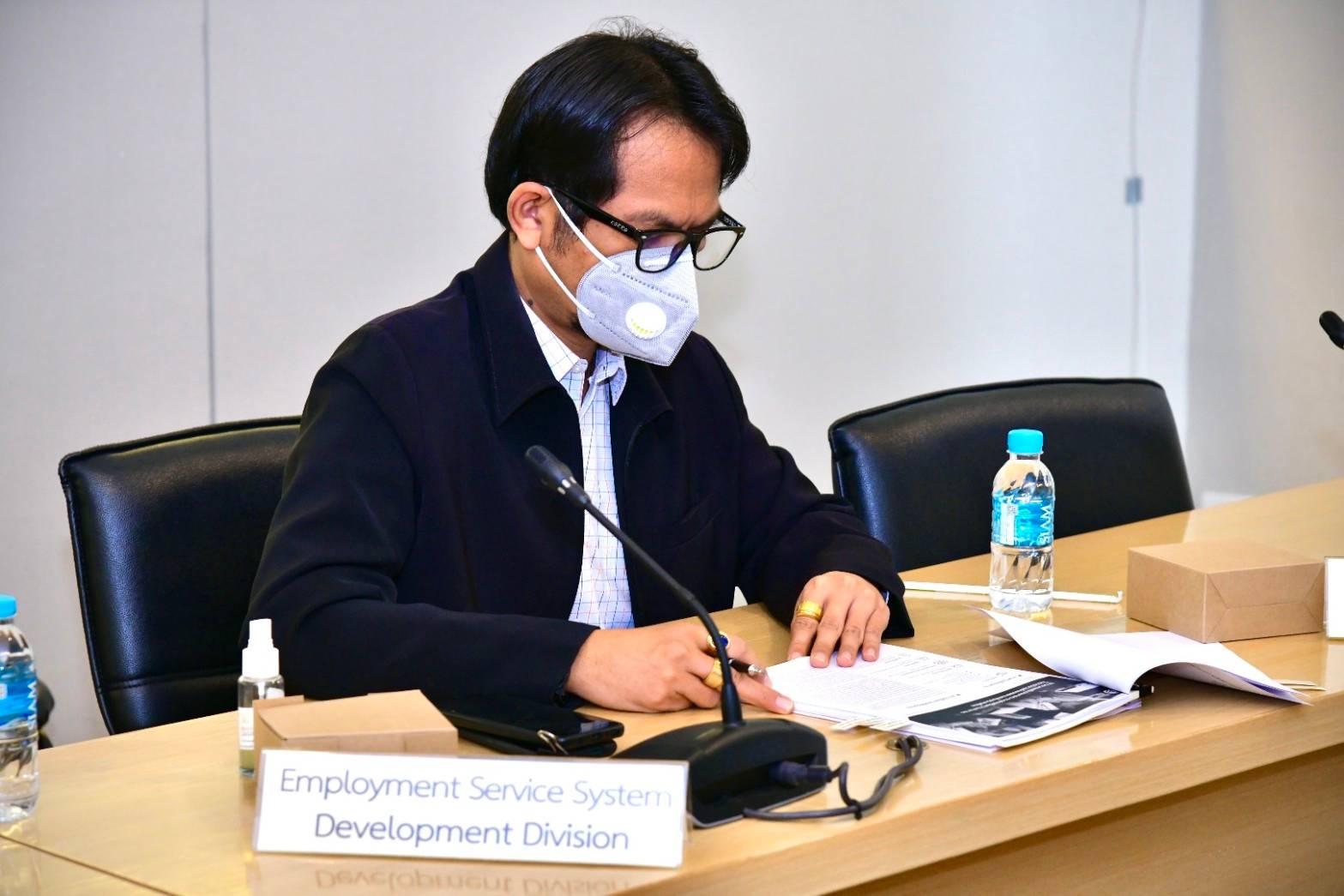 รองอธิบดีกรมการจัดหางาน   เป็นประธานการประชุมหารือร่วมกับคณะผู้แทนองค์การแรงงานระหว่างประเทศ (ILO)