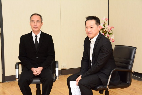 """รองอธิบดีกรมการจัดหางาน ให้สัมภาษณ์รายการ  """"บี-ไทม์"""" ทางสถานีโทรทัศน์ไทยทีวีสีช่อง  3"""