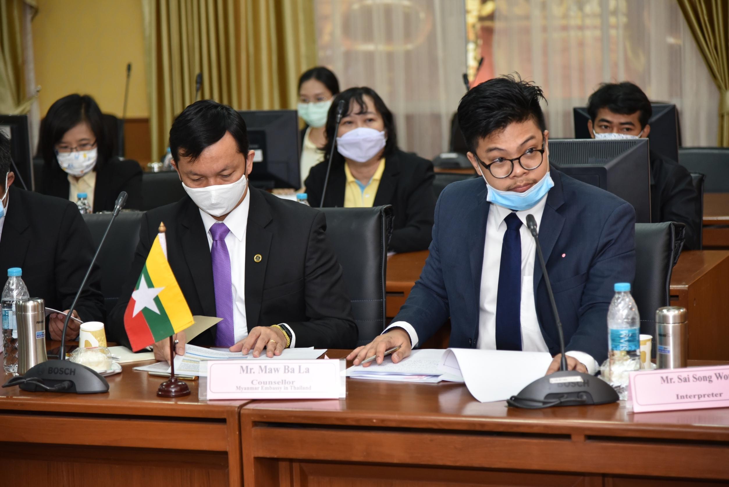 กรมการจัดหางานประชุมระดับวิชาการไทย-เมียนมา  ผ่านระบบ VDO Conference