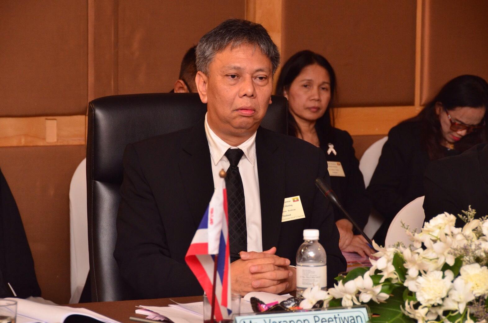 การประชุมระดับ  วิชาการ ไทย-เมียนมา  โดยมี นายวรานนท์ ปีติวรรณ อธิบดีกรมการจัดหางาน เป็นหัว  หน้าคณะผู้แทนฝ่ายไทย