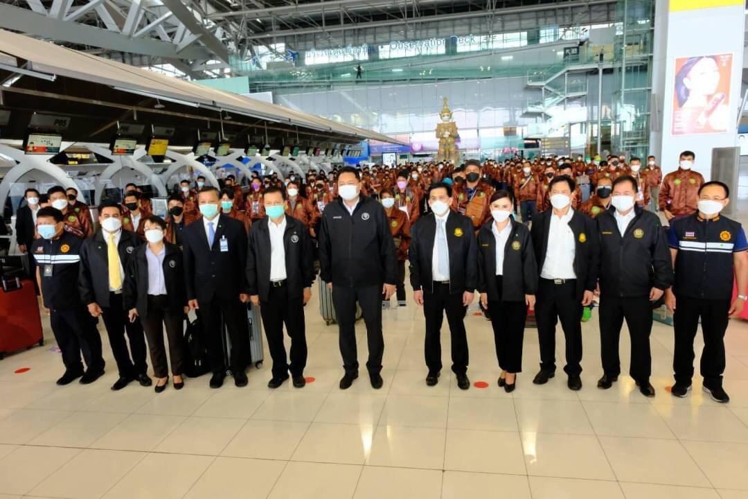 อธิบดีกรมการจัดหางาน ร่วมลงพื้นที่ตรวจเยี่ยมและให้กำลังใจแรงงานไทยก่อนเดินทางไปทำงานในภาคเกษตรฯ