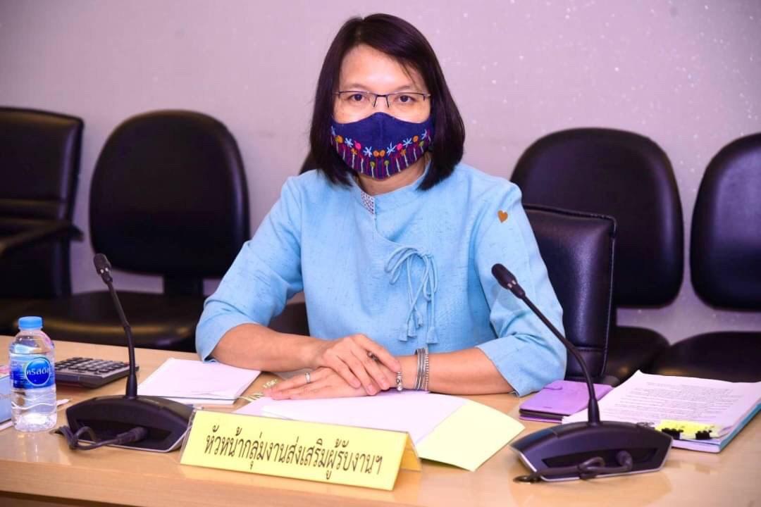 กกจ. ประชุมคณะอนุกรรมการพิจารณากลั่นกรองคำร้องขอกู้ยืมเงินกองทุนเพื่อผู้รับงานไปทำที่บ้าน ครั้งที่ 6/2564