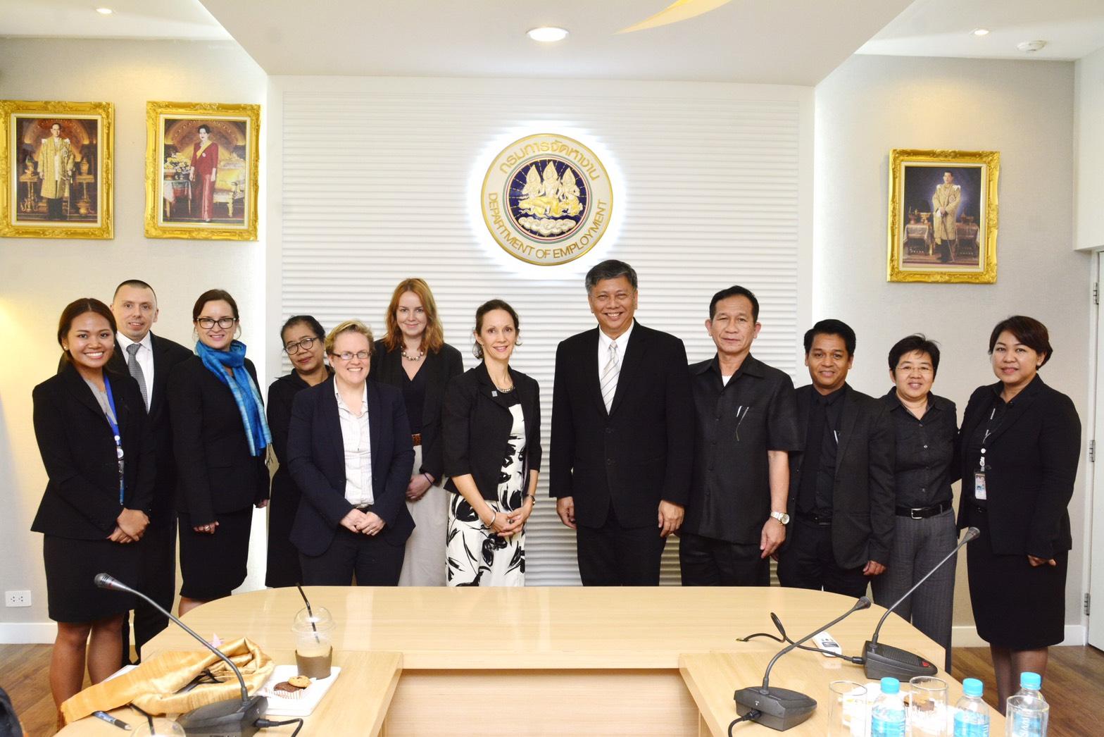 กกจ. ร่วมหารือ IOM ในการจัดส่งแรงงานกัมพูชา และเมียนมาเข้ามาทำงานในประเทศไทยแบบ G to G