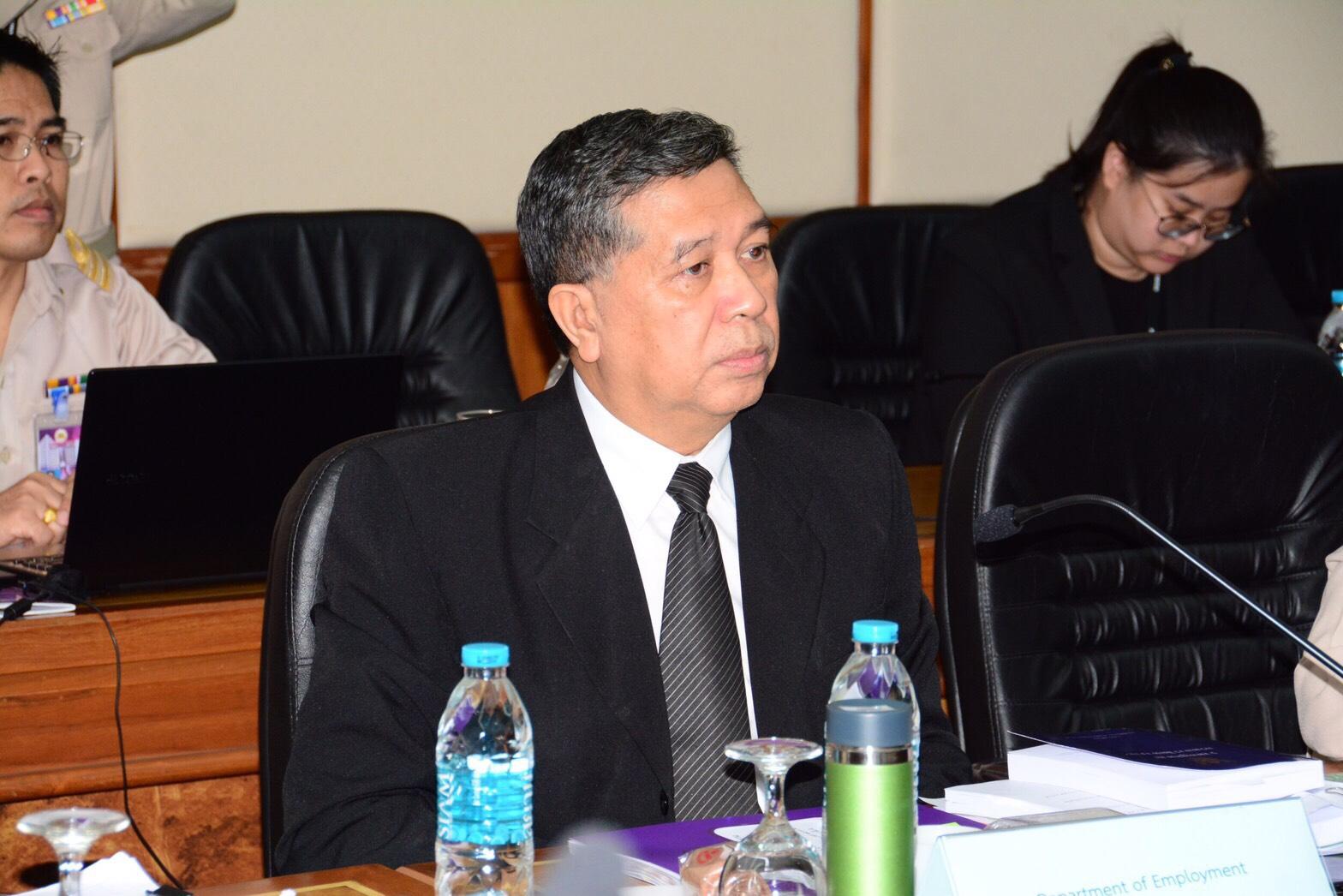 นายสมบัติ นิเวศรัตน์ รองอธิบดีกรมการจัดหางาน ร่วมประชุมหารือด้านแรงงานกับคณะผู้แทนสหภาพยุโรป (DG Employment) กระทรวงแรงงานและหน่วยงานที่เกี่ยวข้องเนื่องในโอกาสเดินทางมาประเทศไทย เพื่อตรวจประเมินผลการดำเนินการแก้ไขปัญหาการประมง IUU