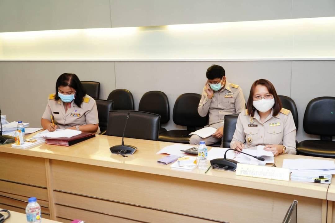 ประชุมคณะอนุกรรมการพิจารณากลั่นกรองคำร้องขอกู้ยืมเงินกองทุนเพื่อผู้รับงานไปทำที่บ้าน ครั้งที่ 4/2564