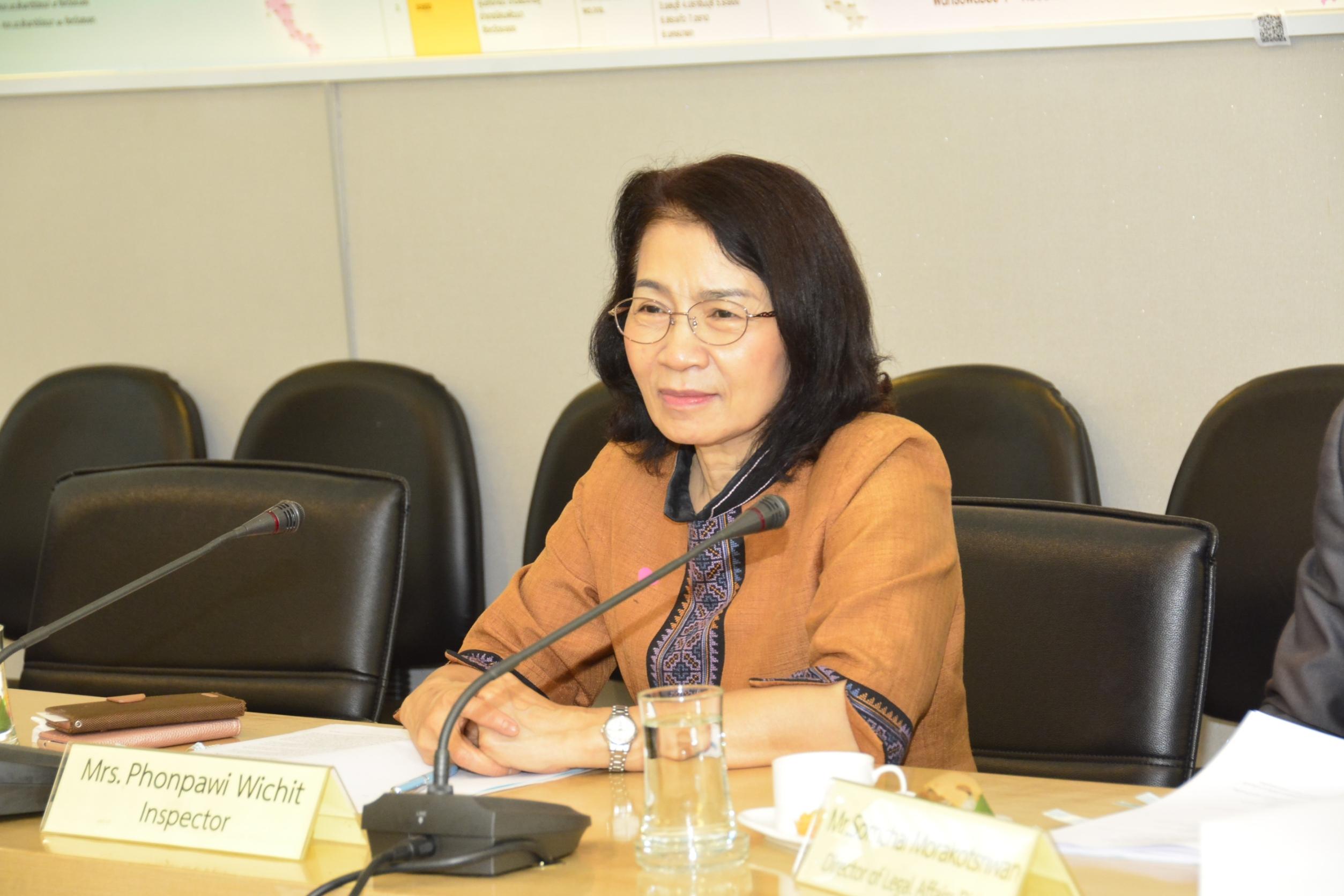ผู้ตรวจราชการกรม   ให้การต้อนรับคณะจากองค์การแรงงานระหว่างประเทศ (ILO)