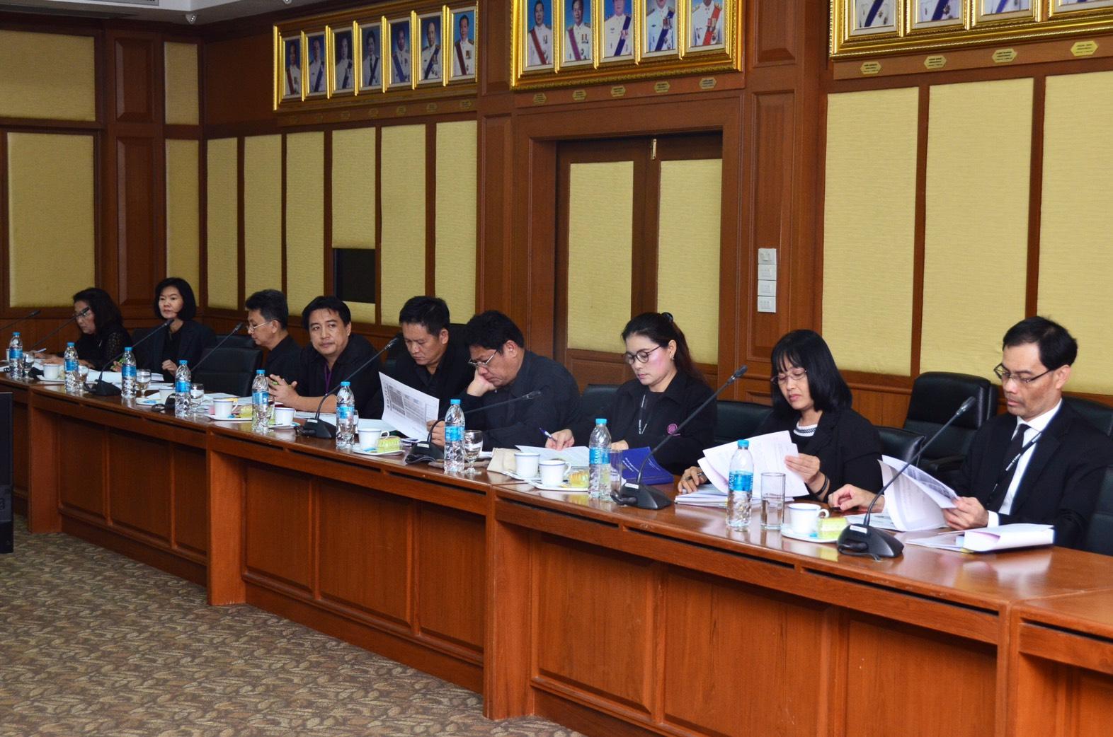 การประชุมรายงานความคืบหน้าการใช้งานระบบสารสนเทศศูนย์ทะเบียนคนหางาน (Labour Bank) เพื่อคนหางานไปทำงานต่างประเทศ ณ ห้องประชุมเทียน อัชกุล ชั้น 10 กรมการจัดหางาน