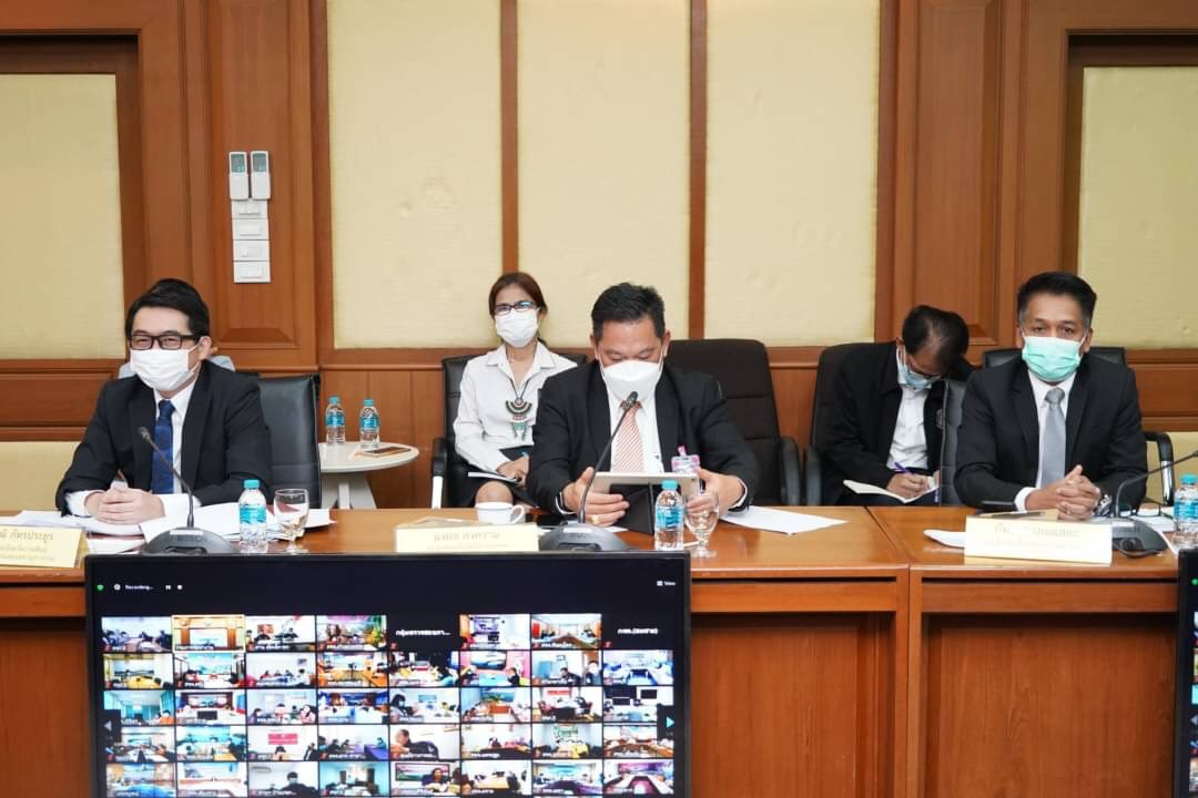 ประชุมกรมการจัดหางาน  ครั้งที่ 4/2564  ผ่านระบบ Video Conference  ณ ห้องประชุมเทียน อัชกุล ชั้น 10 กรมการจัดหางาน