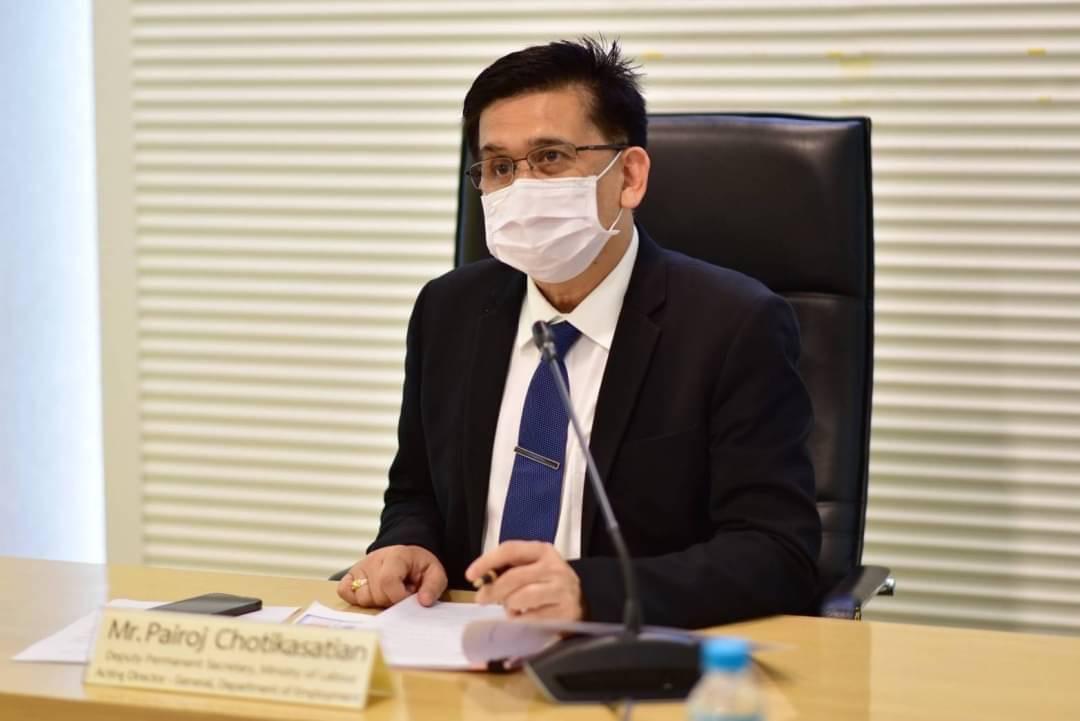 รองปลัดกระทรวงแรงงาน รักษาราชการแทนอธิบดีกรมการจัดหางาน  ให้การต้อนรับเอกอัครราชทูตสาธารณรัฐฟินแลนด์ประจำประเทศไทย