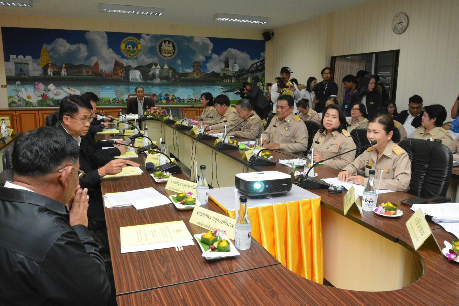 รมว.แรงงาน ลงตรวจเยี่ยมสำนักงานจัดหางานจังหวัดกาญจนบุรี พร้อมมอบนโยบายและทิศทางฯ