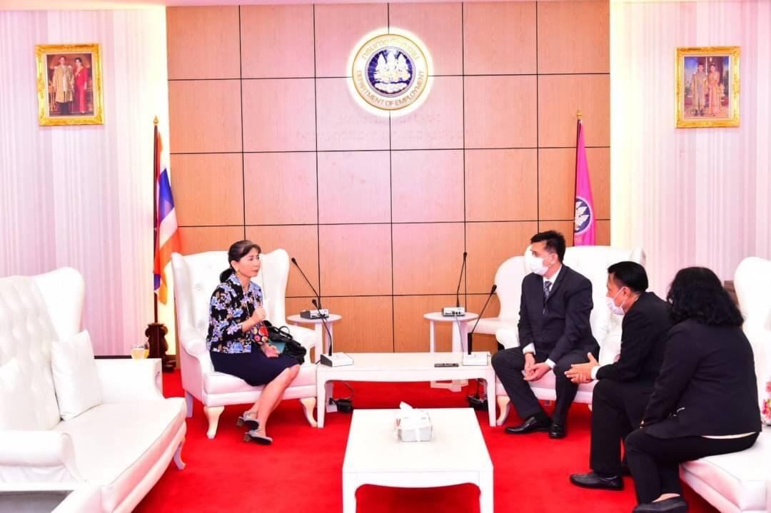 อธิบดีกรมการจัดหางาน  ให้การต้อนรับเอกอัครราชทูตไทยประจำสาธารณรัฐฟินแลนด์