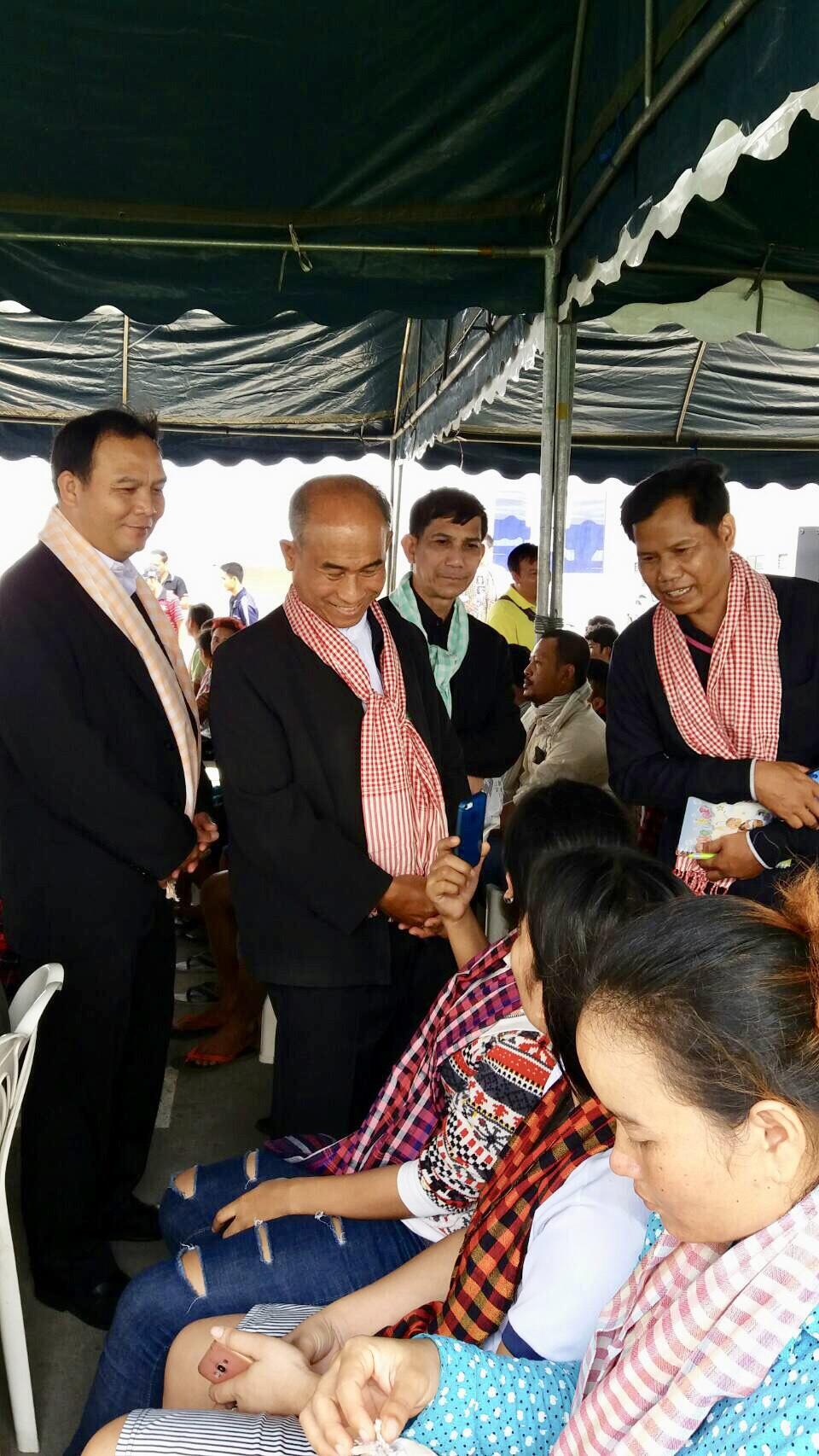 รมว.แรงงานและฝึกอาชีพ ราชอาณาจักรกัมพูชา เยี่ยมแรงงานกัมพูชาที่ชลบุรี