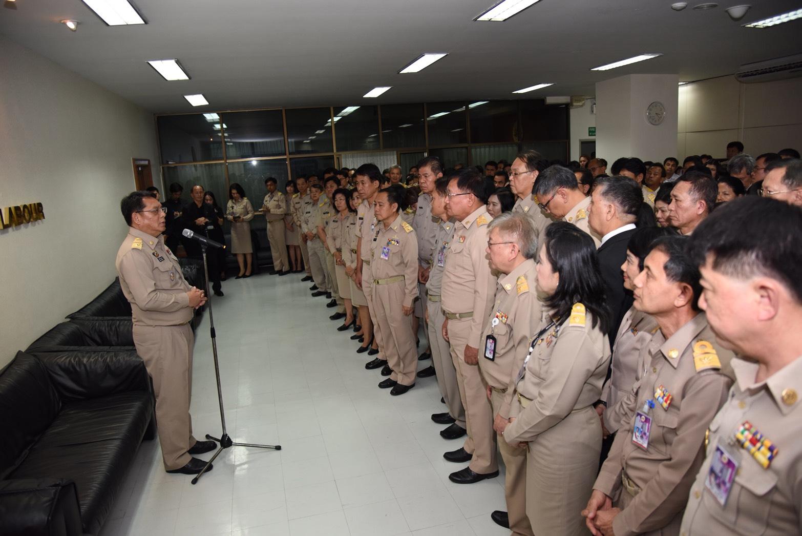ปลัดแรงงานย้ำ ! คนไทยตัองมีงานทำอย่างมีศักดิ์ศรี