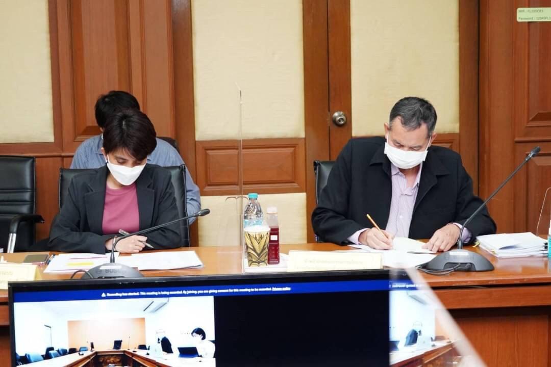 อธิบดีกรมการจัดหางาน ประชุมพิจารณาร่างประกาศกระทรวงมหาดไทย และร่างประกาศกระทรวงแรงงาน ตามมติคณะรัฐมนตรี เมื่อวันที่ 28 กันยายน 2564 ครั้งที่ 2