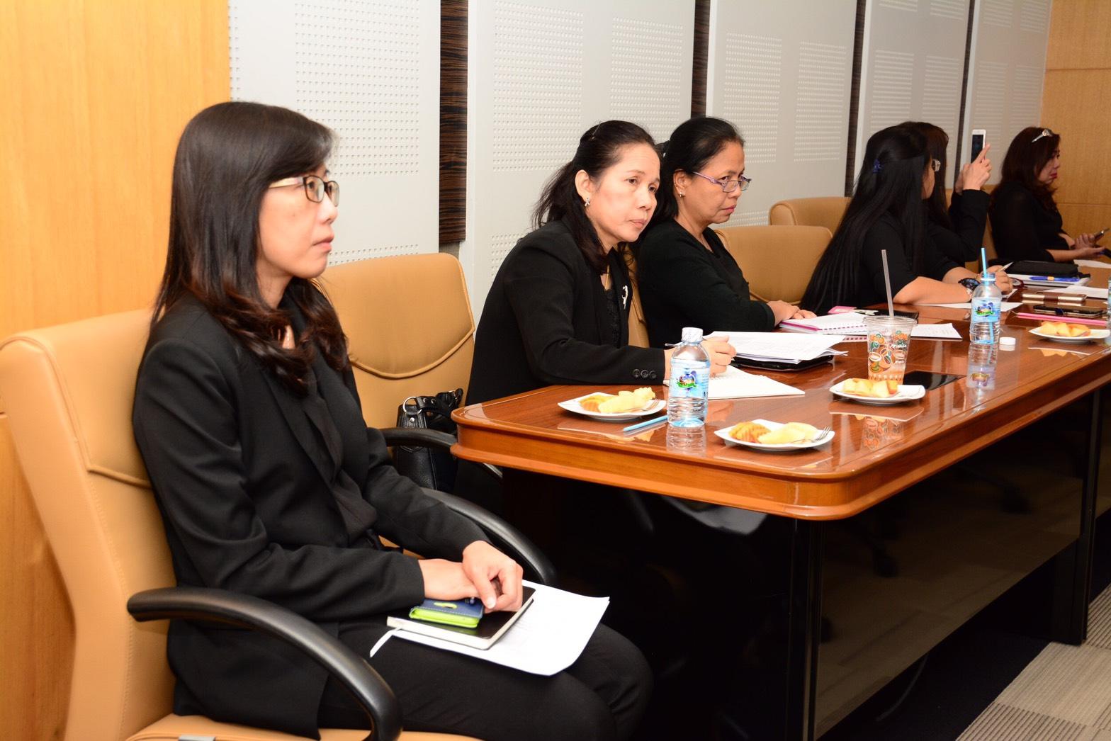 ประชุมร่วมกับผู้อำนวยการศูนย์ประสานการบริการด้านการลงทุน สำนักงานคณะกรรมการส่งเสริมการลงทุน เพื่อทราบถึงเทคนิคและหลักการการดำเนินโครงการพัฒนาระบบนำร่องการจัดหาและพัฒนาระบบ Single Window ศูนย์บริการวีซ่าและใบอนุญาตทำงาน และตรวจเยี่ยมศูนย์บริการวีซ่าและใบอน