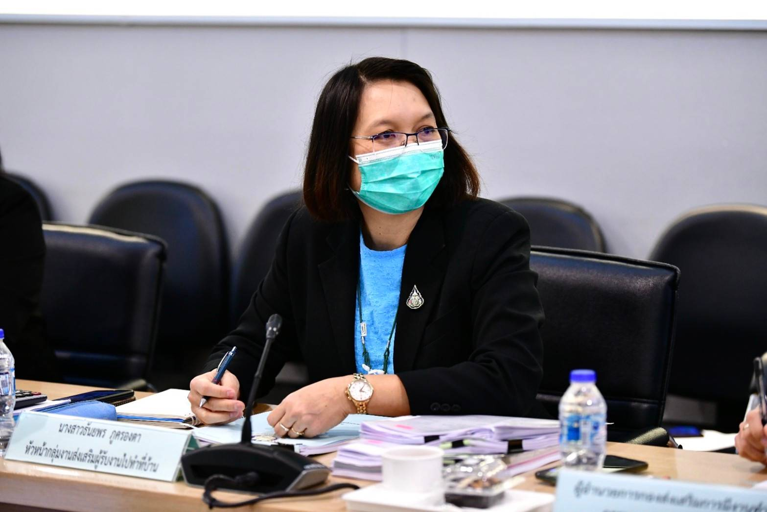 กรมการจัดหางาน ประชุมคณะกรรมการบริหารกองทุนเพื่อผู้รับงานไปทำที่บ้าน ครั้งที่ 2/2564