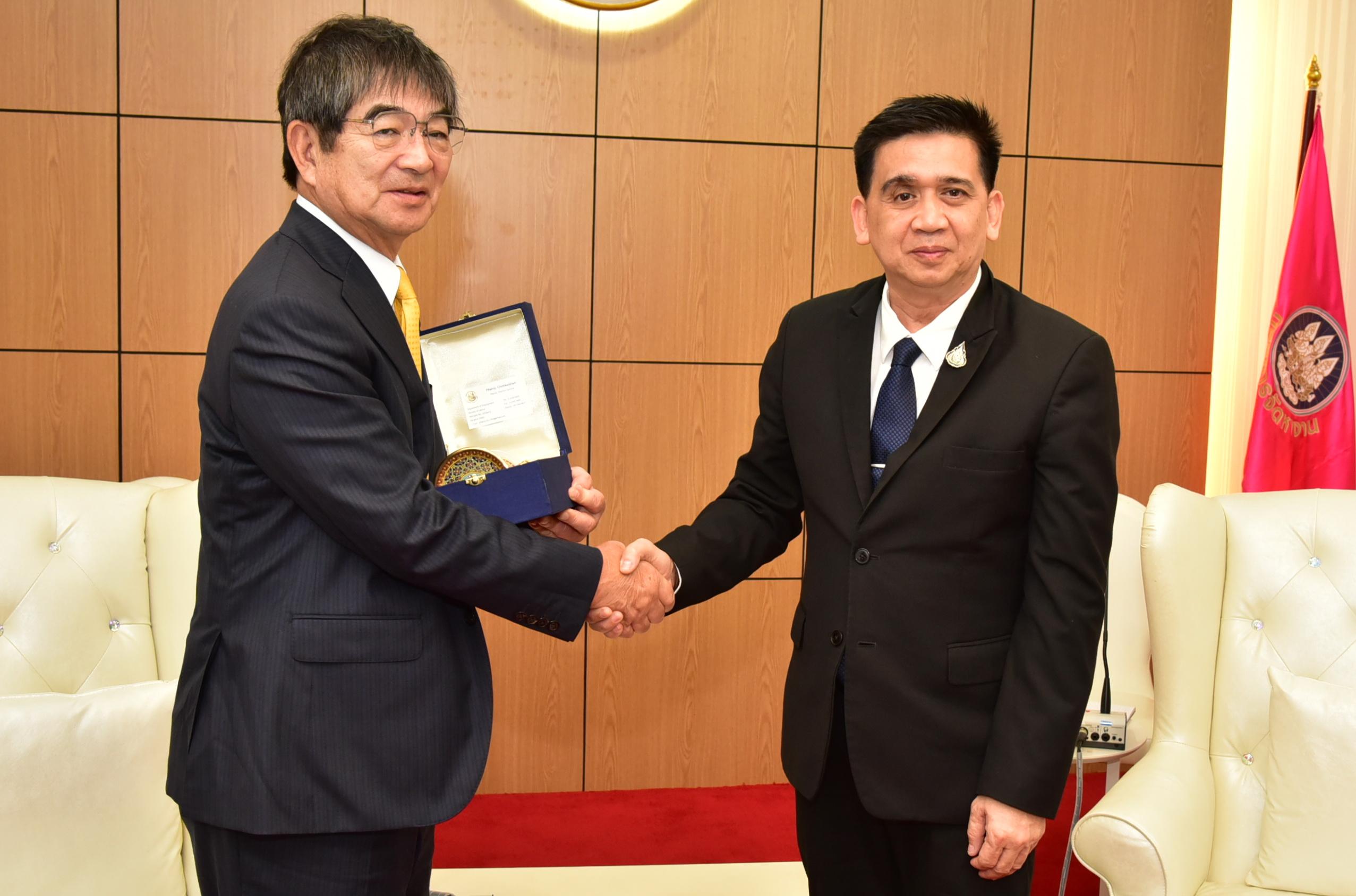 รองอธิบดีกรมการจัดหางาน ให้การต้อนรับ  ประธานองค์กรพัฒนาฝีมือแรงงานระดับนานาชาติ ประเทศญี่ปุ่น  (IM Japan)