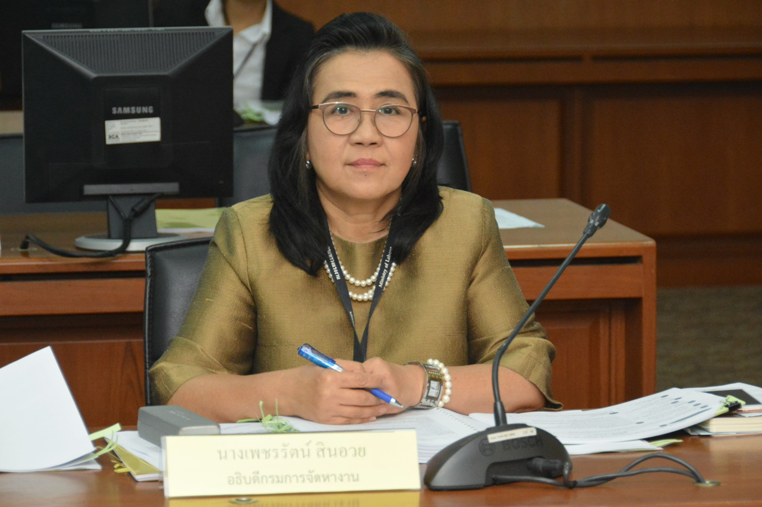 ก.แรงงาน ประชุมคณะกรรมการพิจารณาการดำเนินงานขององค์การเอกชนต่างประเทศ ครั้งที่ 2/2562