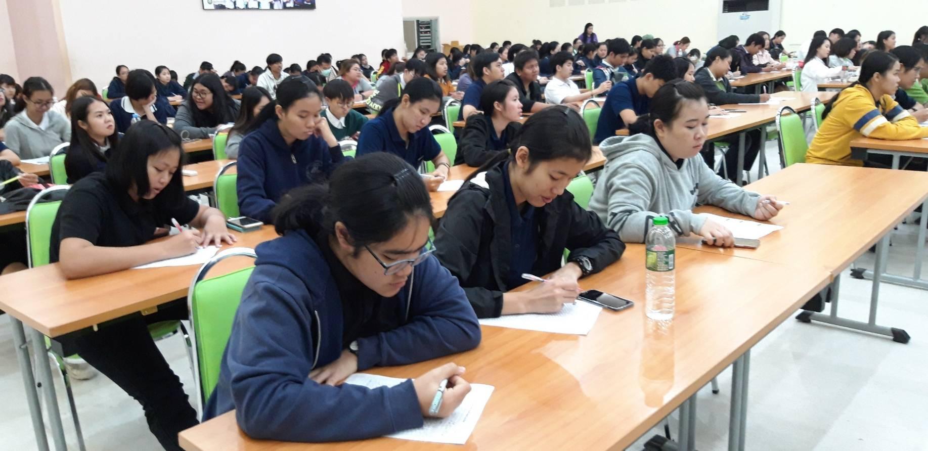 บรรยายและทำแบบทดสอบความพร้อมทางอาชีพ ในโครงการพัฒนาบุคลิกภาพ MJU ประจำปีงบประมาณ พ.ศ. 2562