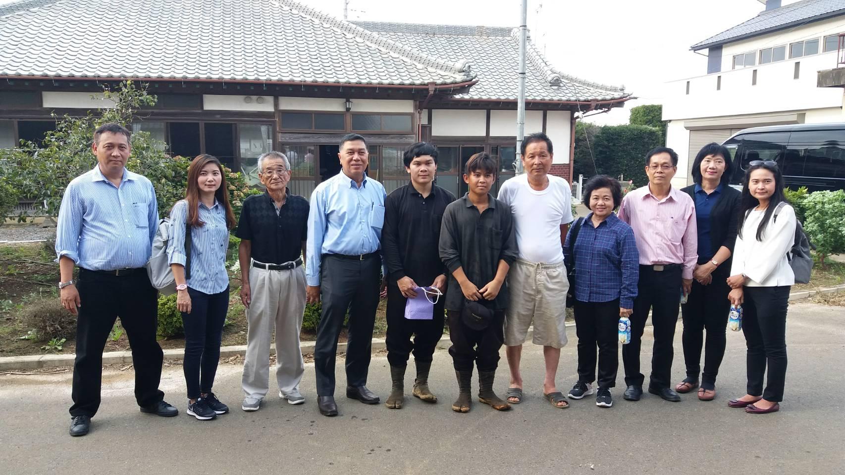 ตรวจเยี่ยมแรงงานไทย จำนวน 2 คน บริษัท IRIE YOSHIAKI