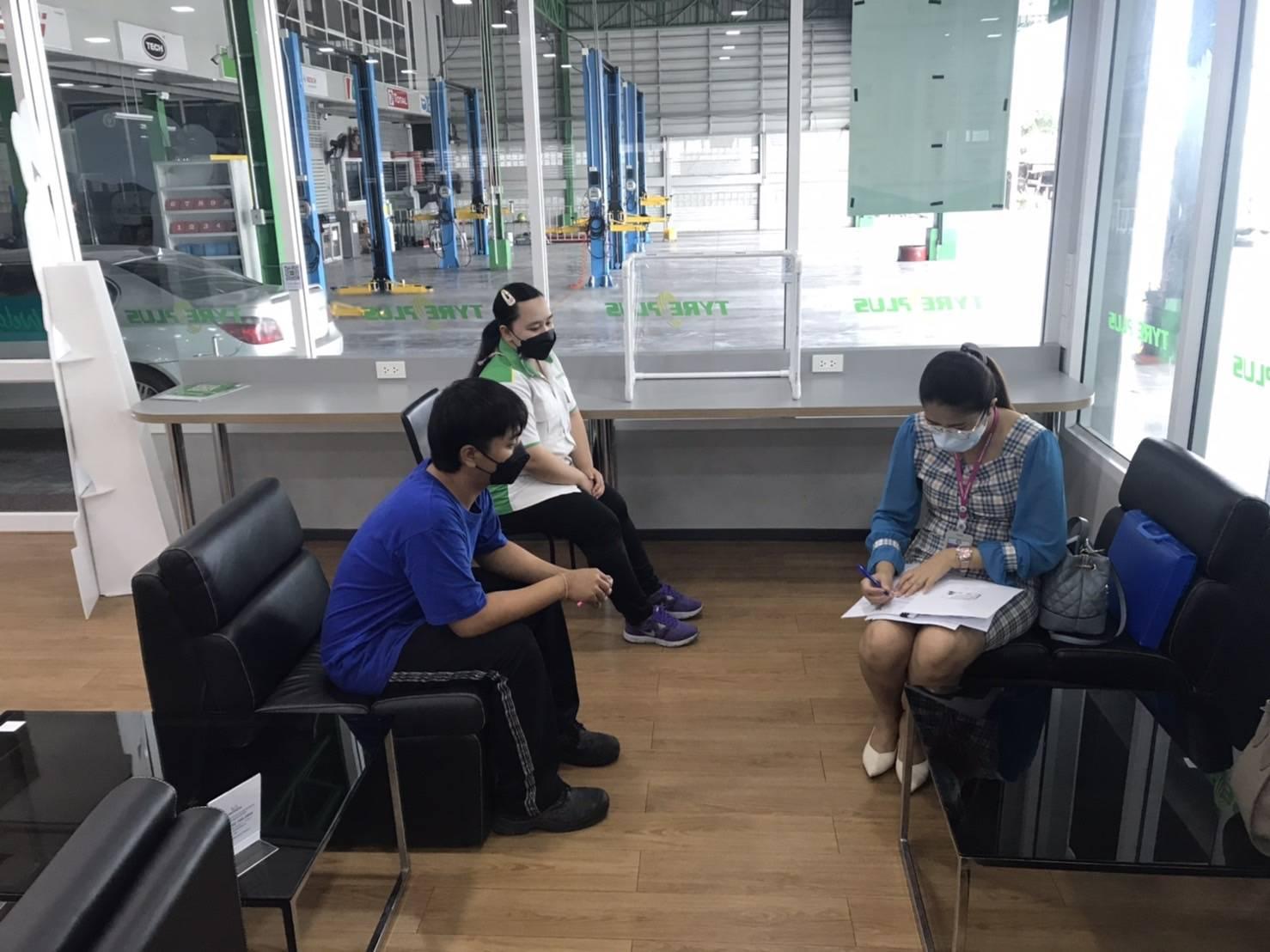 สำนักงานจัดหางานจังหวัดลพบุรี ลงพื้นที่ปฏิบัติงานในพื้นที่ติดตามผลการดำเนินโครงการ Co-Payment