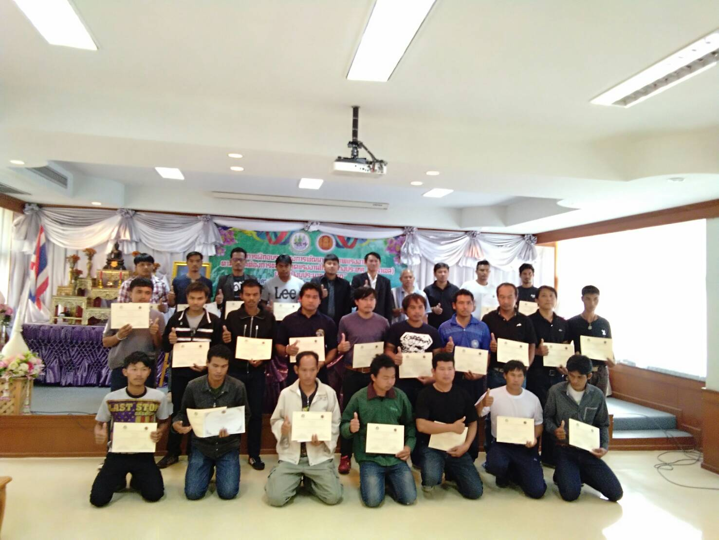 การฝึกอบรมโครงการพัฒนาศักยภาพแรงงานไทยตามความต้องการของตลาดแรงงานไทยไปต่างประเทศ(อิสราเอล) รุ่นที่ 4