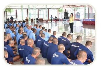 บรรยายให้ความรู้แก่ผู้ต้องขังที่ใกล้จะพ้นโทษ ในโครงการเตรียมความพร้อมก่อนปลอยตัวฯ