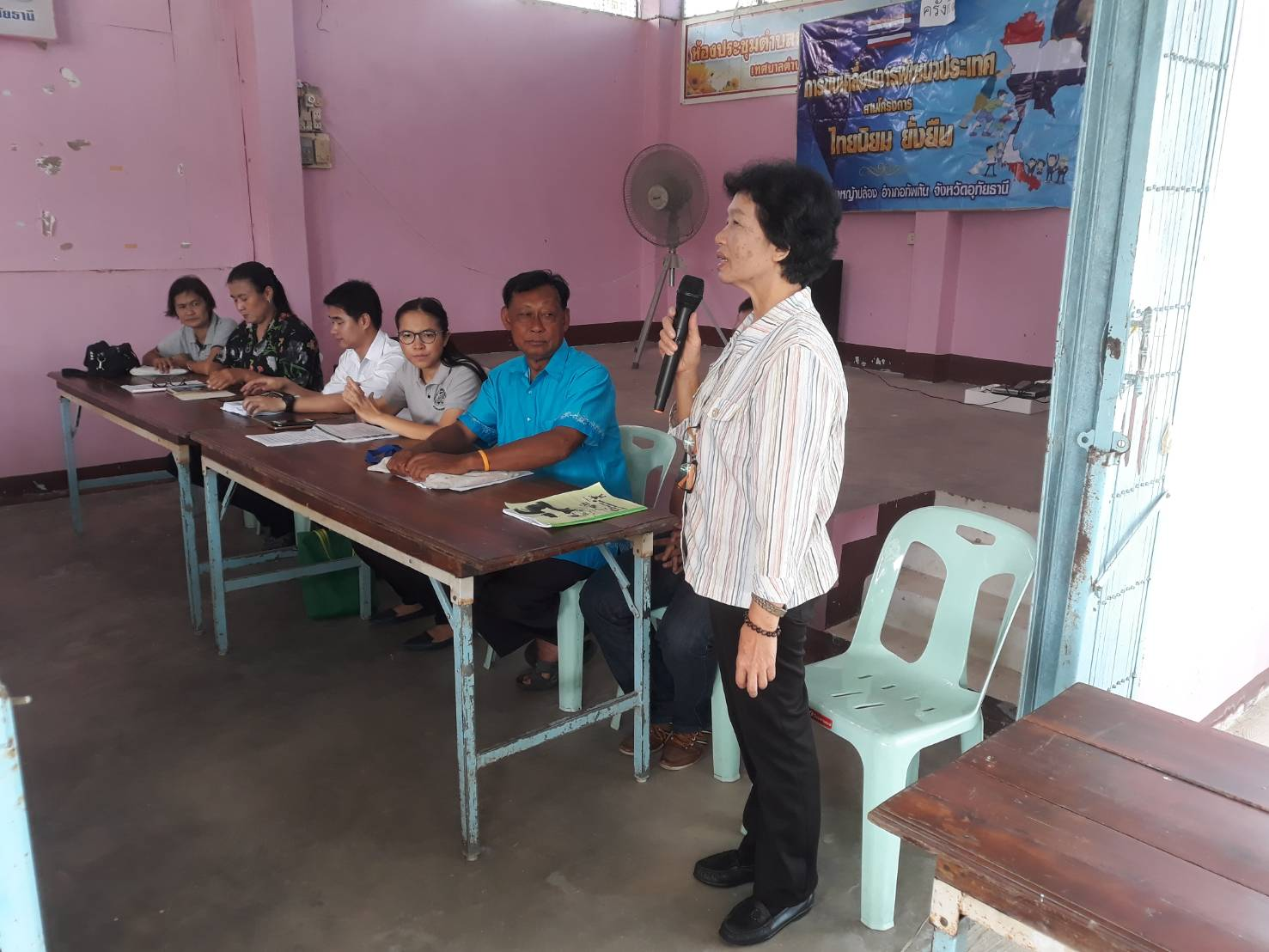 ร่วมสังเกตการณ์เวทีประชาคมไทยนิยม ยั่งยืน