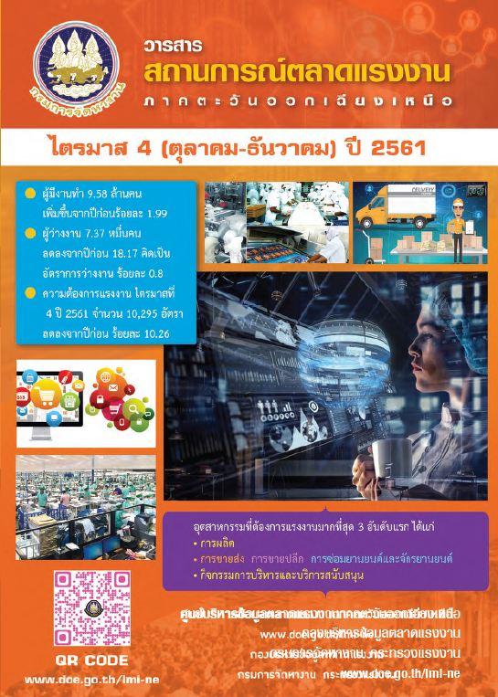 สถานการณ์ตลาดแรงงานภาค ฯ ไตรมาส 4 ปี 2561