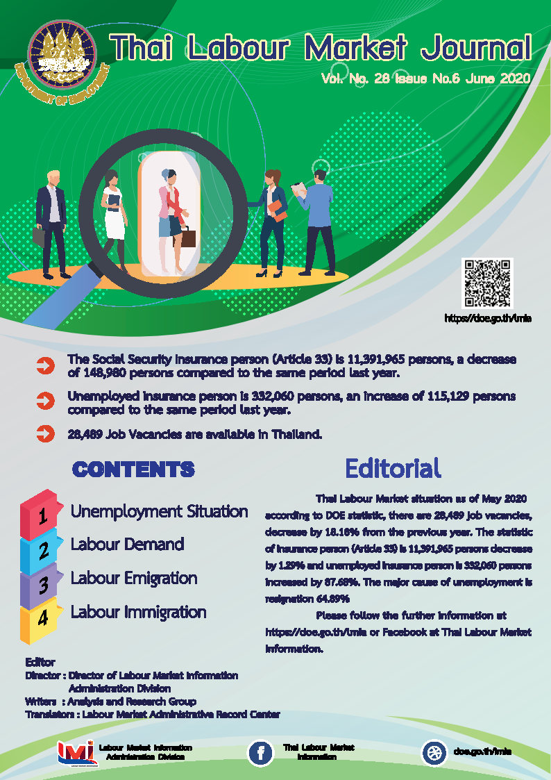 Thai Labour Market Journal (June 2020)