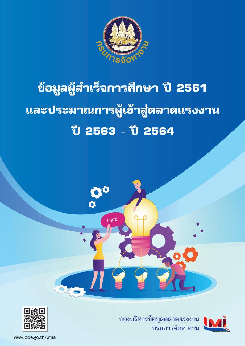 35.ข้อมูลผู้สำเร็จการศึกษาปี2561 และประมาณการผู้เข้าสู่ตลาดแรงงานปี 2563- ปี 2564