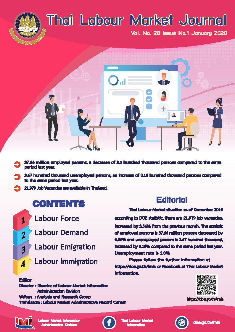 Thai Labour Market Journal (January2020)