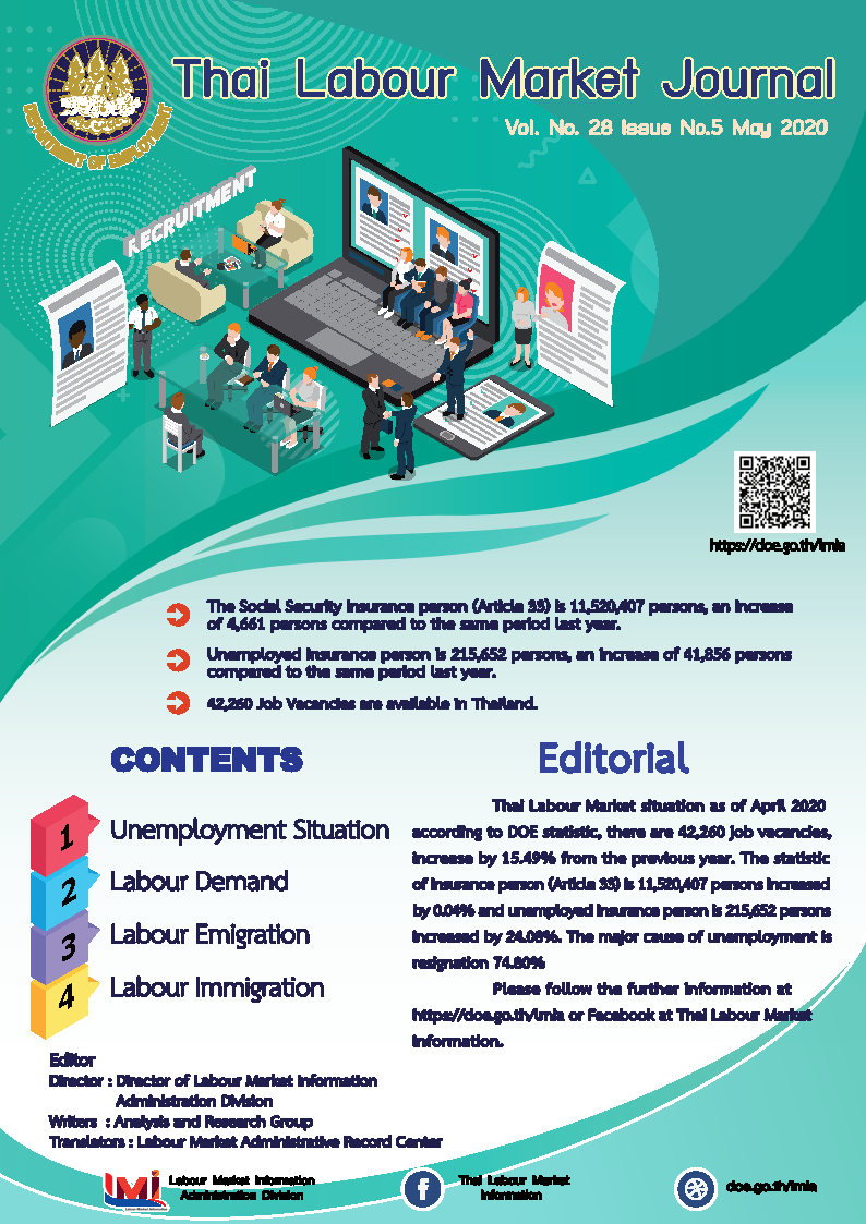 Thai Labour Market Journal (May 2020)