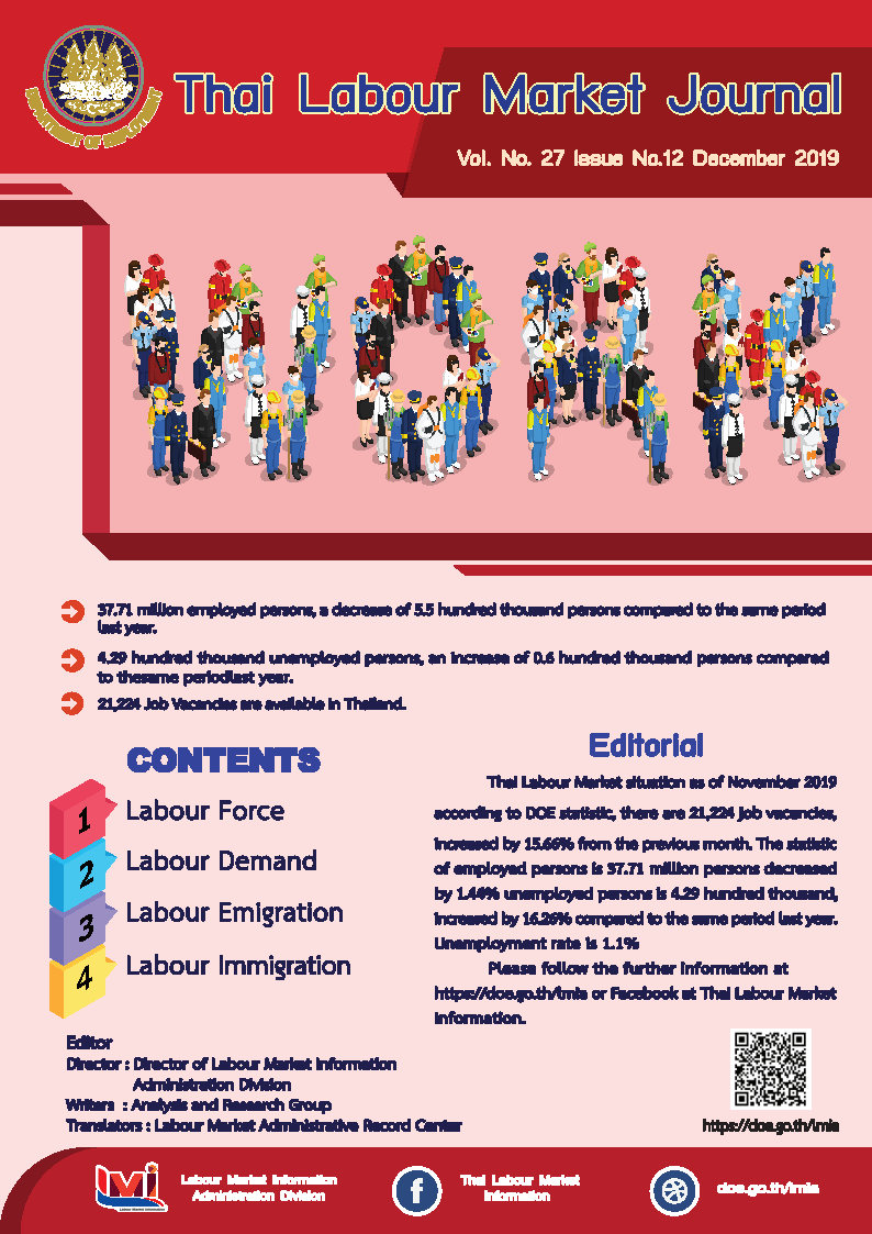 Thai Labour Market Journal (December2019)