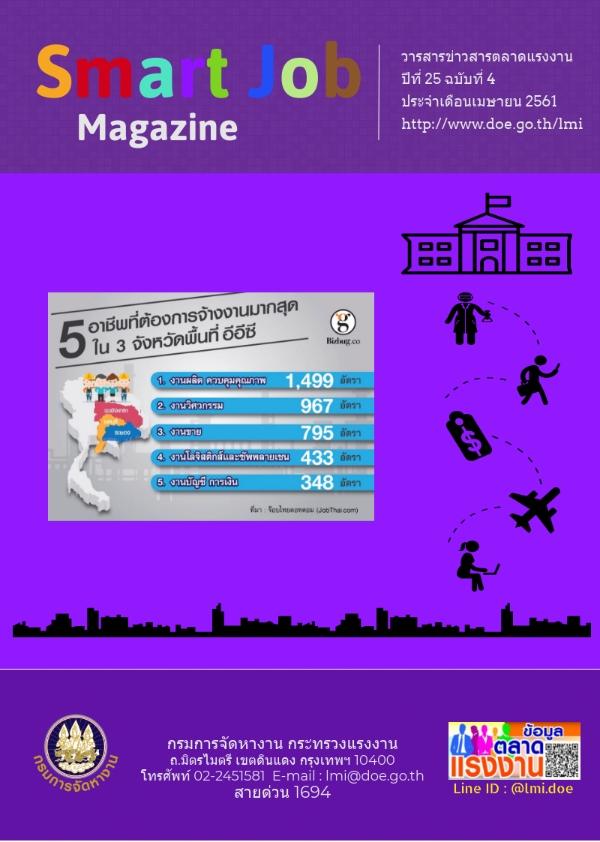 วารสารข่าวสารตลาดแรงงาน Smart Job Magazine ประจำเดือนเมษายน 2561
