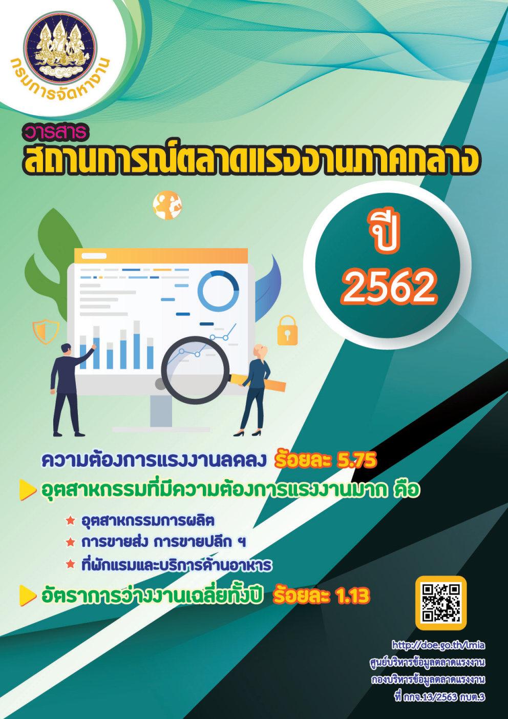 วารสารสถานการณ์ตลาดแรงงานภาคกลางรายปี 2562