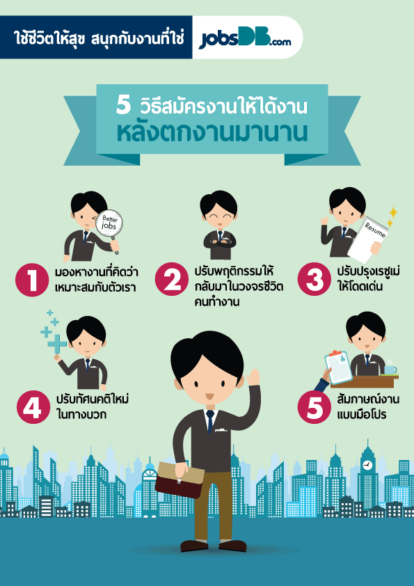 5 วิธีสมัครงานให้ได้งาน หลังตกงานมานาน
